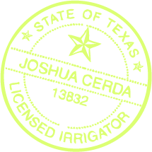 Licensed Irrigator - State of Texas